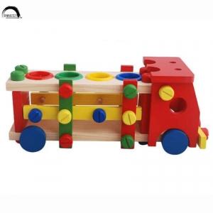 Camion de scule si ciocanel cu bile din lemn4