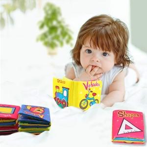 Set 6 carti bebelusi senzoriale - Prima mea carte material textil Top Bright5