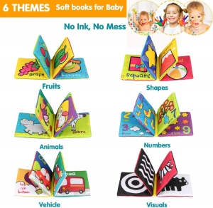 Set 6 carti bebelusi senzoriale - Prima mea carte material textil Top Bright3