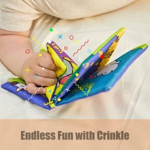 Set 6 carti bebelusi senzoriale - Prima mea carte material textil Top Bright6