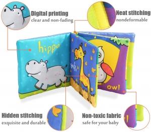 Set 6 carti bebelusi senzoriale - Prima mea carte material textil Top Bright7