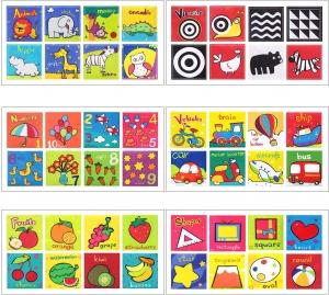 Set 6 carti bebelusi senzoriale - Prima mea carte material textil Top Bright8