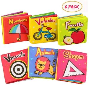 Set 6 carti bebelusi senzoriale - Prima mea carte material textil Top Bright0