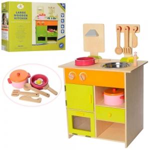 Bucatarie de lemn copii Clasica cu accesorii1