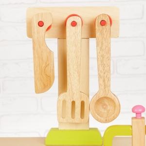 Bucatarie de lemn copii Clasica cu accesorii4