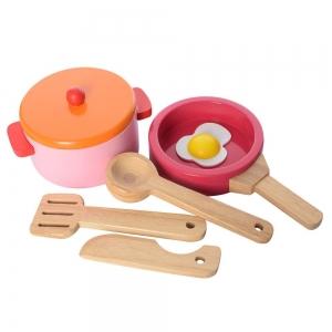 Bucatarie de lemn copii Clasica cu accesorii2