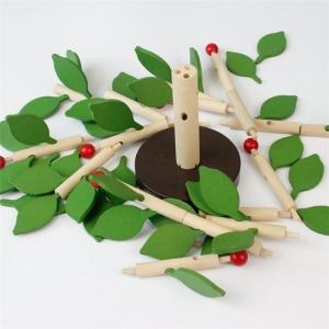 Jucarie de lemn puzzle montessori Copacul cu frunze 3D1