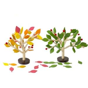 Jucarie de lemn puzzle montessori Copacul cu frunze 3D0