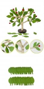 Jucarie de lemn puzzle montessori Copacul cu frunze 3D4