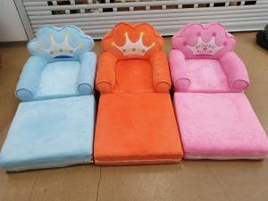 Fotoliu de plus extensibil Princess Mare pentru copii Albastru sau Portocaliu2