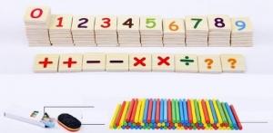 Set educational din lemn matematica6