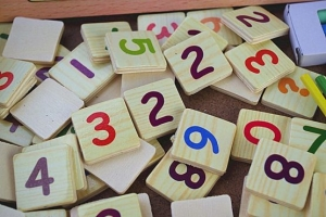 Set educational din lemn matematica7