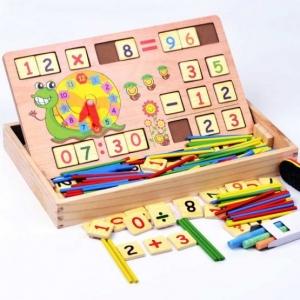 Set educational din lemn matematica1