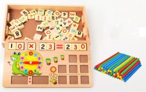 Set educational din lemn matematica4