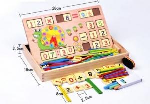 Set educational din lemn matematica0