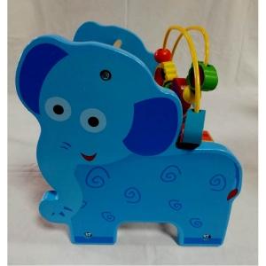 Jucarie educativa 3 in 1 Girafa( Abac cu bile)Elefantel - Leu5