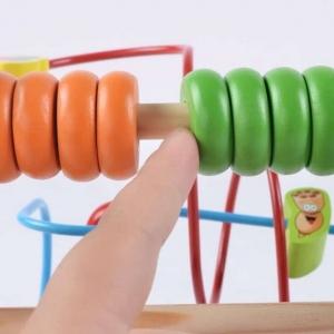 Jucarie  Montessori labirint cu bile si abac1