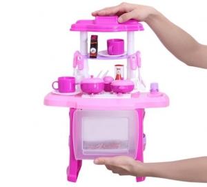Bucatarie mini pentru copii cu lumini si sunete3