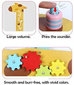 Placa de masurat din lemn Girafa cu activitatii copii - Panou cu activitatii si masuratoare copii5