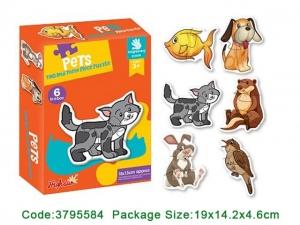 Puzzle bebe animale din doua si patru piese   4 seturi0