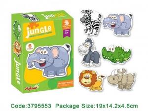 Puzzle bebe animale din doua si patru piese   4 seturi1