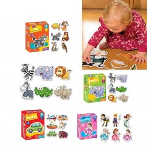 Puzzle bebe animale din doua si patru piese   4 seturi4