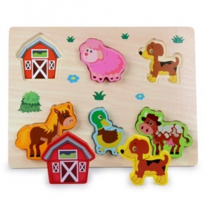 Puzzle lemn 3D Legume,insecte,animale,ferma,masinute5