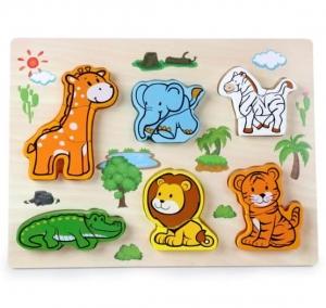 Puzzle lemn 3D Legume,insecte,animale,ferma,masinute2