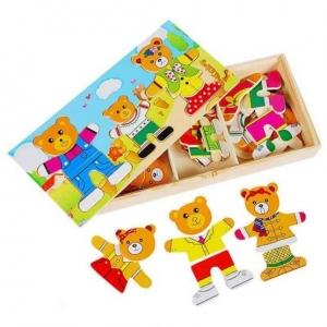 Puzzle lemn 3 ursuleti0