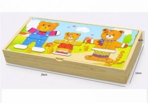 Puzzle lemn 3 ursuleti1