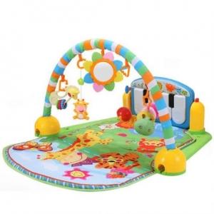 Saltea de joaca bebe cu centru activitati 4 in 1 Piano0