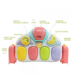 Saltea de joaca bebe cu pian Garden6