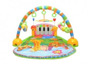 Saltea de joaca bebe cu centru activitati 4 in 1 Piano5