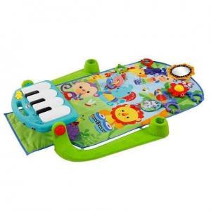 Saltea de joaca bebe cu centru activitati 4 in 1 Piano3