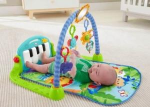 Saltea de joaca bebe cu centru activitati 4 in 1 Piano1