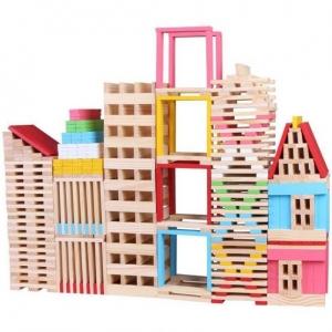Set 150 de cuburi din lemn de constructie0