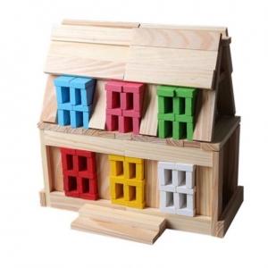 Set 150 de cuburi din lemn de constructie4