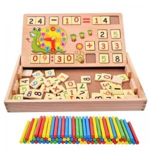 Set educational din lemn matematica2