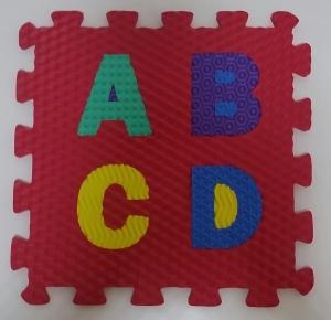 Set puzzel 10 piese cifre si litere  mari 31/31 cm1