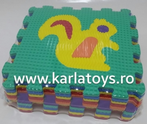 Set puzzel 10 piese cu animale 31/31 cm2