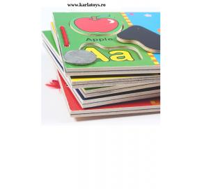 Carte din lemn Alfabet si imagini magnetice3