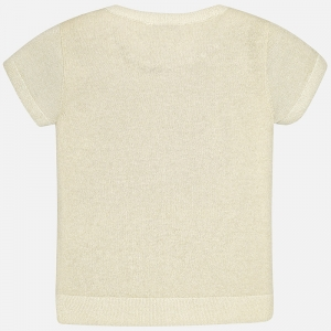 Bluza eleganta tricot cumaneca scurta Mayoral