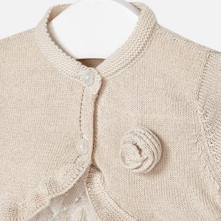 Bolero tricot ceremonie auriu 0-12 luni , Mayoral
