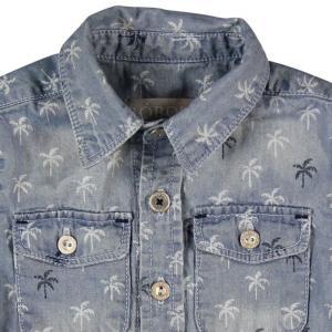 Camasa jeans cu palmieri Boboli