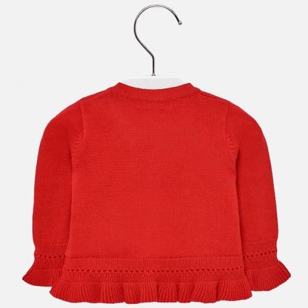 Cardigan din tricot cu fundita fete Mayoral rosu1