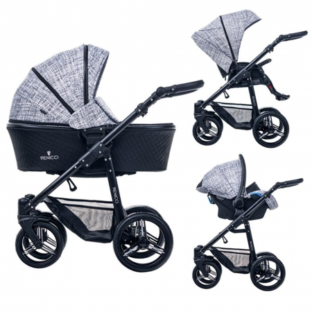 Carucior bebe 3 in 1 Venicci Fashion Black