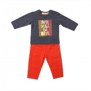 Compleu baieti tricou si pantaloni Babybol