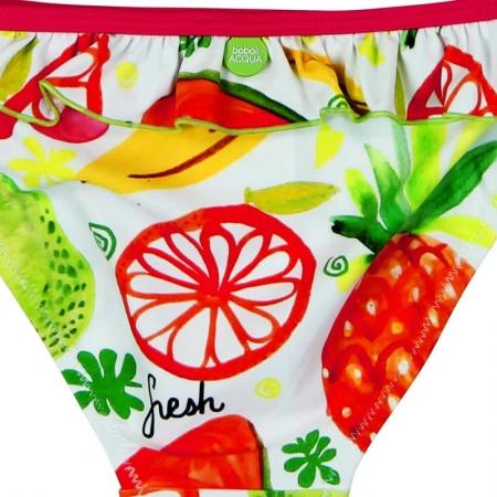 Costum baie 2 piese, imprimeu fructe, Boboli