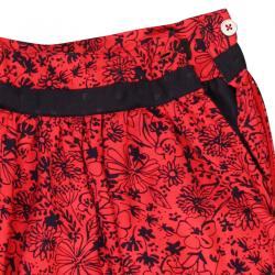 Fusta rosie cu imprimeu flori Boboli