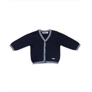 Jacheta tricot baiat navy Babybol